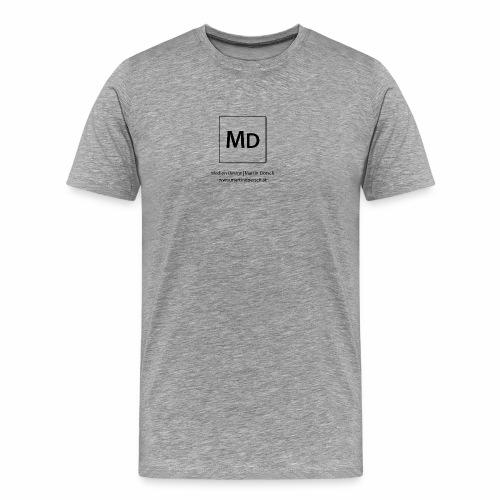 MD Logo - schwarz - Männer Premium T-Shirt