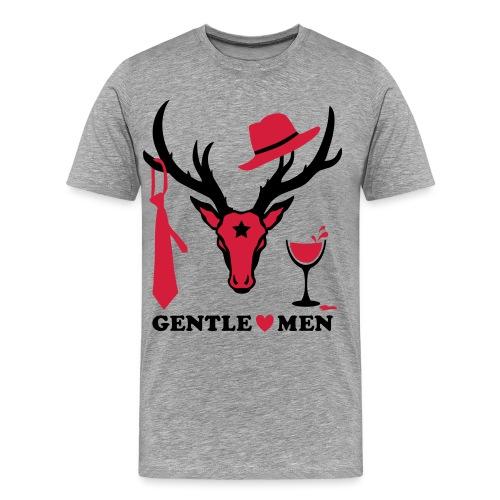 Hirsch / Deer the Gentlemen 2c Party - Männer Premium T-Shirt