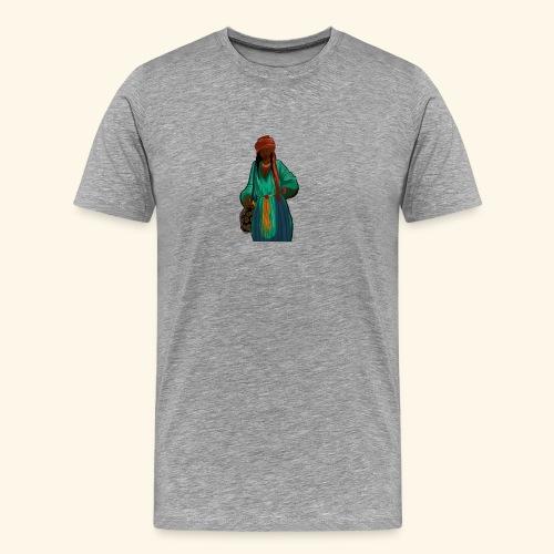 Femme avec sac motif - T-shirt Premium Homme