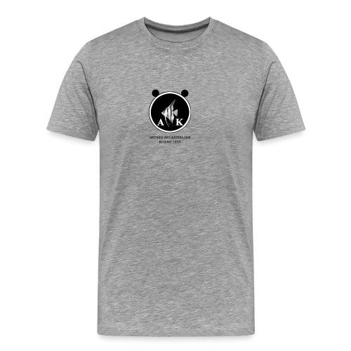 oeakloggamedsvarttext - Premium-T-shirt herr