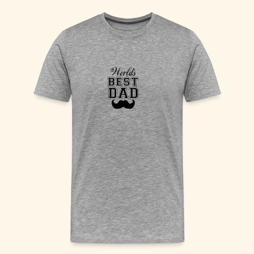 Worlds best dad - Herre premium T-shirt