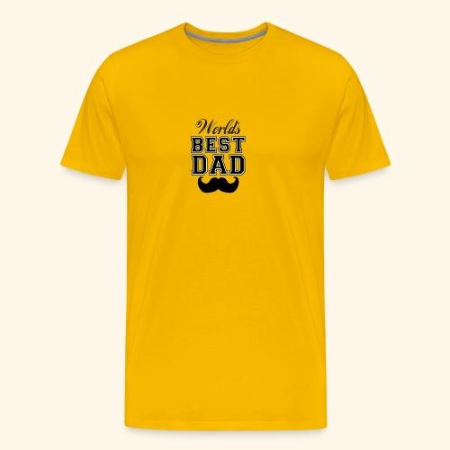 Worlds best dad - Herre premium T-shirt
