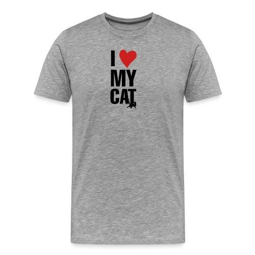 I_LOVE_MY_CAT-png - Camiseta premium hombre