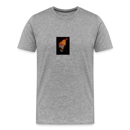 Neon tiger hat - Men's Premium T-Shirt