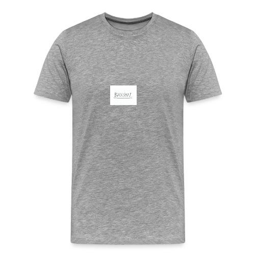 t shirt met tekst 'bullshit' - Mannen Premium T-shirt