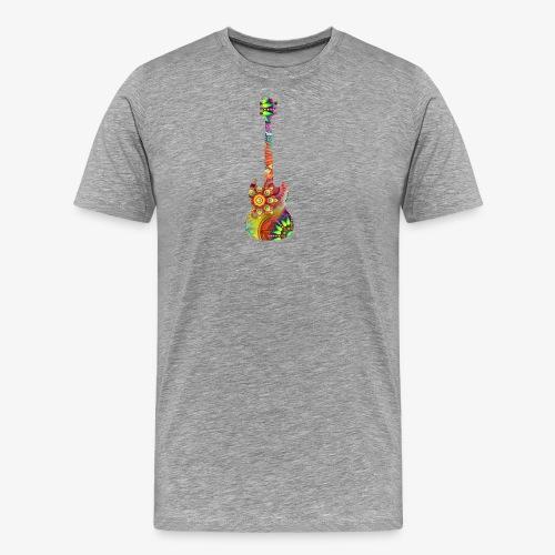 psychedelisches Schattenbild Gitarre - Männer Premium T-Shirt