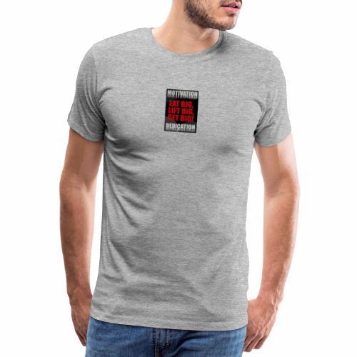 Motivation gym - Premium-T-shirt herr
