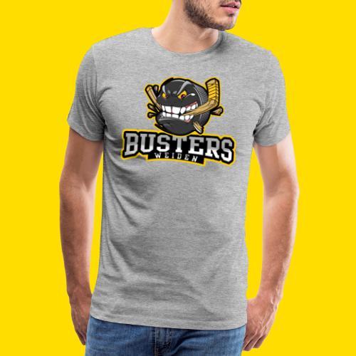 Busters Fun Shirt - ANGRY PUCK - Männer Premium T-Shirt