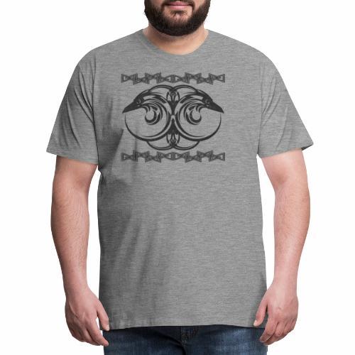 Odin's Ravens - Hunnin and Munnin - Men's Premium T-Shirt