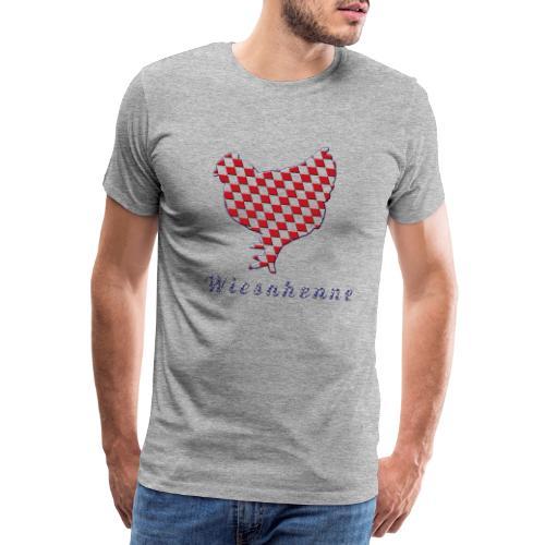 Wiesnhuhn rot blau - Männer Premium T-Shirt
