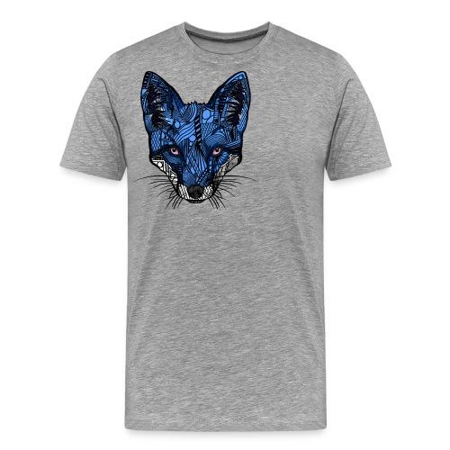 Blårev - Premium T-skjorte for menn