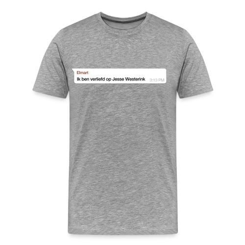 Ik ben verliefd op Jesse Westerink - Mannen Premium T-shirt
