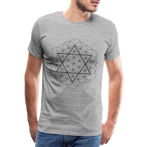 Flower of life and David Star - Herre premium T-shirt