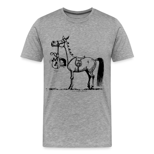 Thelwell Cartoon Stures Pony - Männer Premium T-Shirt