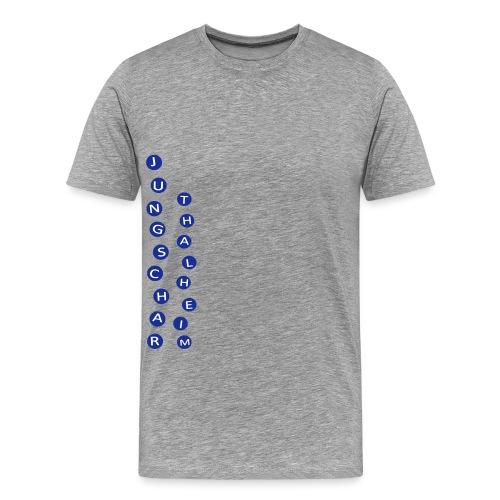 Jungscharlogo Einfaerbig Hochformat - Männer Premium T-Shirt
