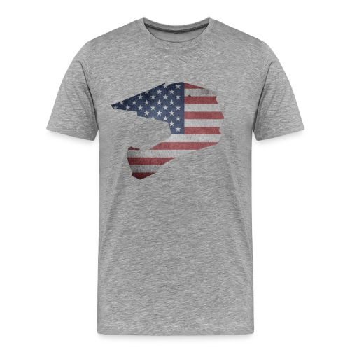 DOWNHILL HELM USA STYLE - Männer Premium T-Shirt