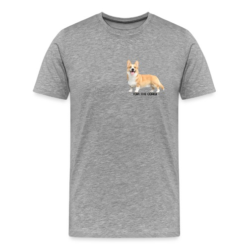 Topi the Corgi - Black text - Men's Premium T-Shirt