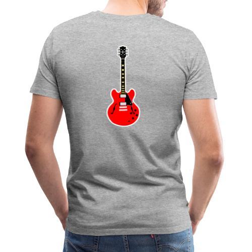 Guitare dos / Vully Blues classique poitrine - Männer Premium T-Shirt