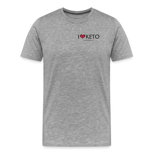I love keto - Männer Premium T-Shirt