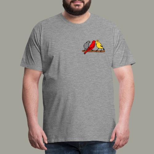 Kanarki kanarki kolor kanarki - flaga DE - Koszulka męska Premium