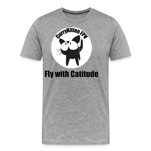 CurryKitten Logo - Fly with Catitude - Men's Premium T-Shirt