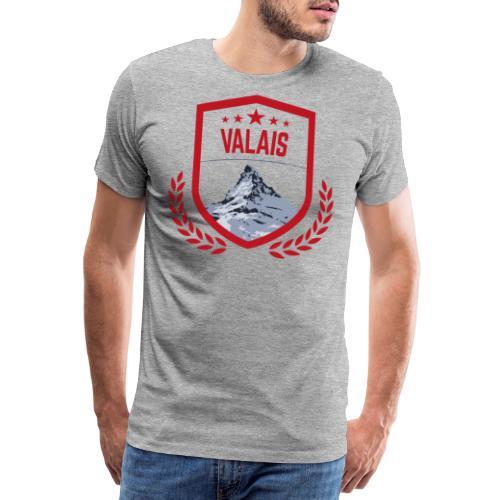 Walliser Logo mit dem Matterhorn - Männer Premium T-Shirt