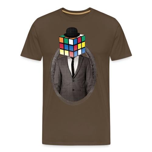 Rubik's Cube Portrait - Men's Premium T-Shirt