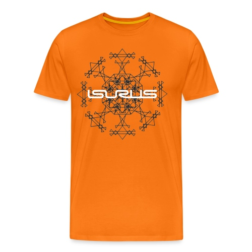 Mandala and Logo (white) - Men's Premium T-Shirt