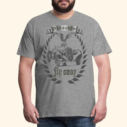 Oldtimer Oldschool fly away grau - Männer Premium T-Shirt