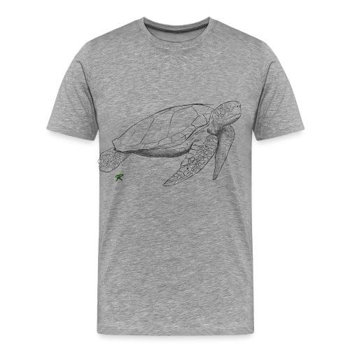 Sea turtle sketch - Maglietta Premium da uomo