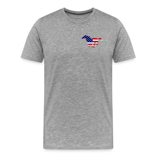 Galoppo Usa - rilievo - Maglietta Premium da uomo