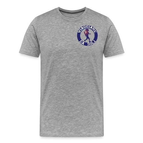 Viaggiare da Soli-01.png - Maglietta Premium da uomo