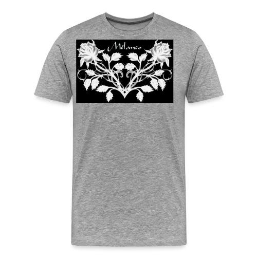 Mélanco roses noires inversé jpg - T-shirt Premium Homme