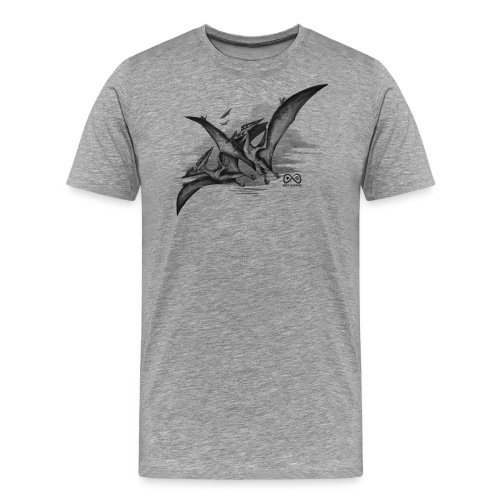 Pteranodon TranspDark01 png - Men's Premium T-Shirt
