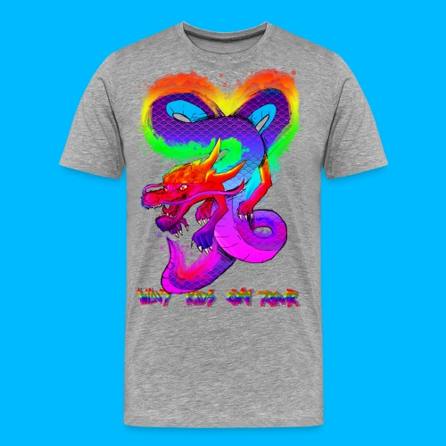 Wavy Kids On Tour Dragon - Men's Premium T-Shirt