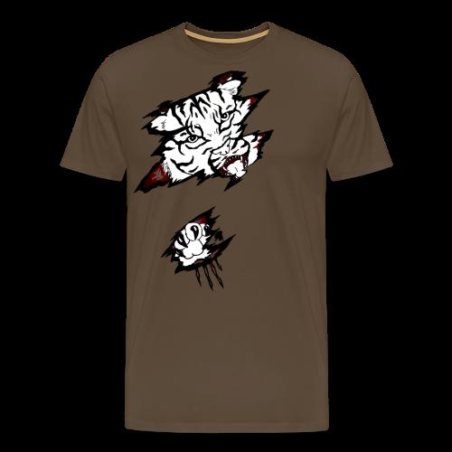 Böser Tiger - Männer Premium T-Shirt
