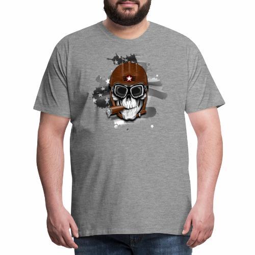 20-16 AMERICAN PILOT - SKULL - USA - LAHJATUOTTEET - Miesten premium t-paita