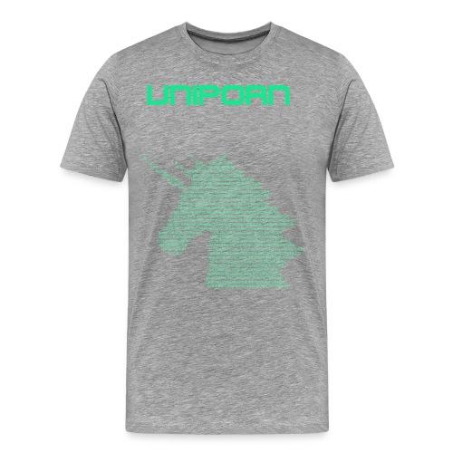UNIPORN Einhorn Unicorn Buntmensch Geschenkidee - Männer Premium T-Shirt