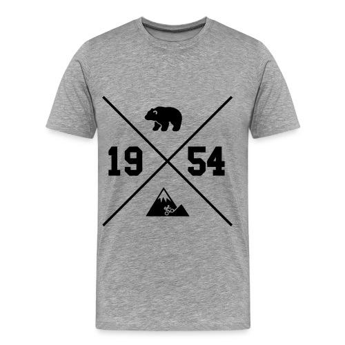 Karhuvuori -baseballhuppari - Miesten premium t-paita