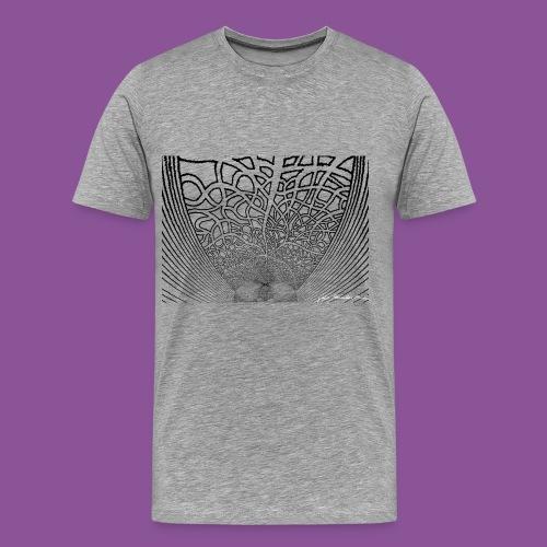 Karo mit Adern 1 1 - Männer Premium T-Shirt
