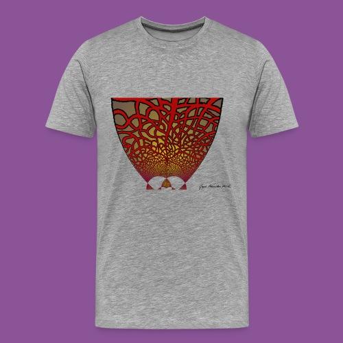 Karo mit Adern 17 1 - Männer Premium T-Shirt