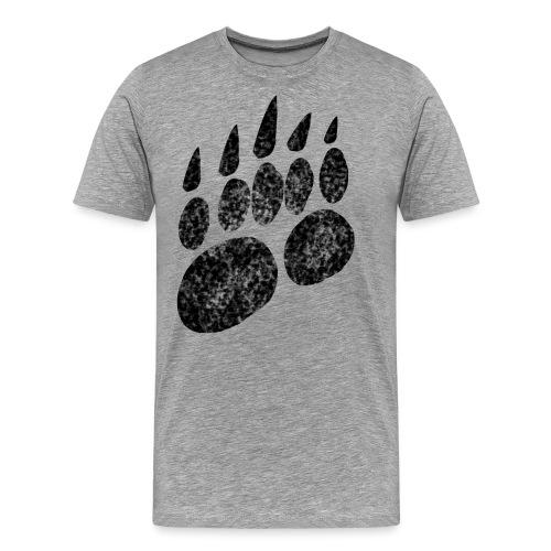 Bärentatze Bärenklaue Pranke - Männer Premium T-Shirt