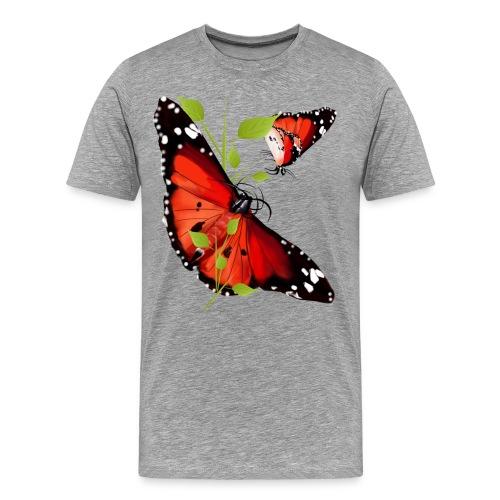 TWO BRIGHT ORANGE BUTTERF - Men's Premium T-Shirt
