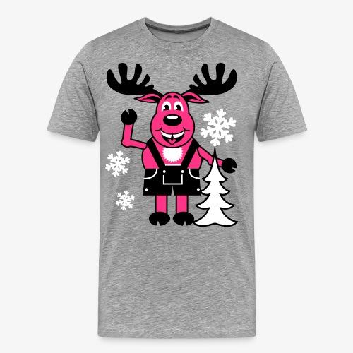 Hirsch Rudolph aus Bayern Lederhose Tannenbaum - Männer Premium T-Shirt
