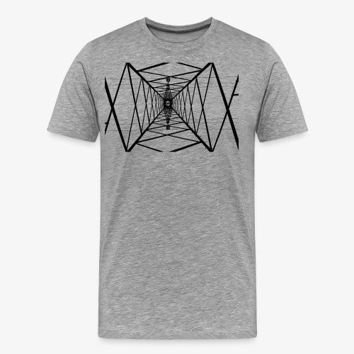 Quermast V2 Schwarz - Männer Premium T-Shirt