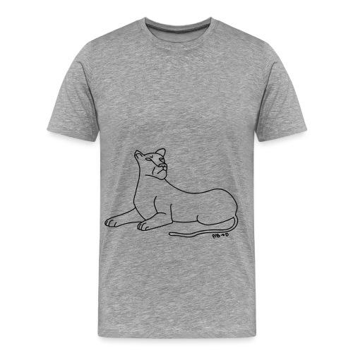 Aux aguets - T-shirt Premium Homme