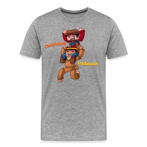 Cowboys with Text png - Men's Premium T-Shirt