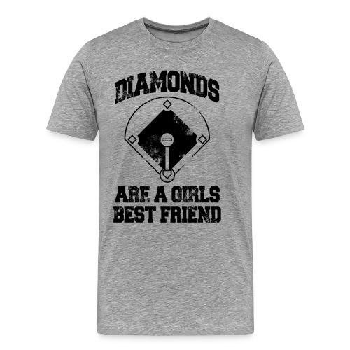 Diamonds Are A Girl's Best friend - Men's Premium T-Shirt
