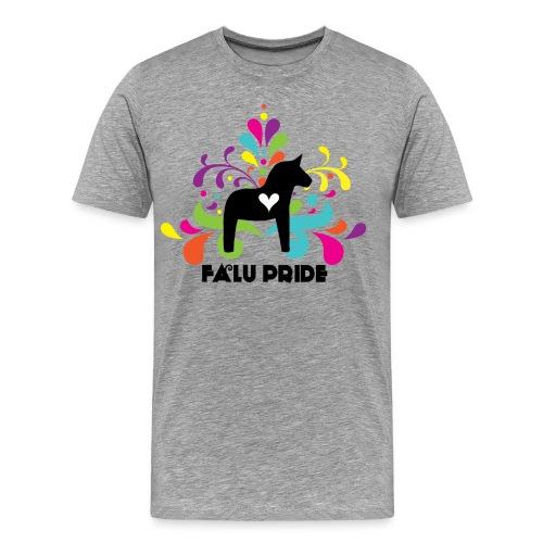 Logotyp med text - Premium-T-shirt herr