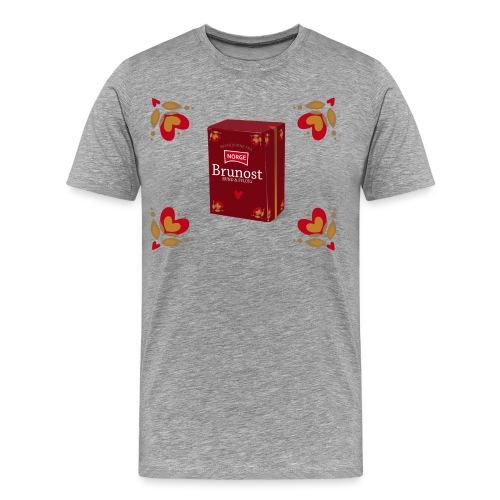 brunost png - Premium T-skjorte for menn
